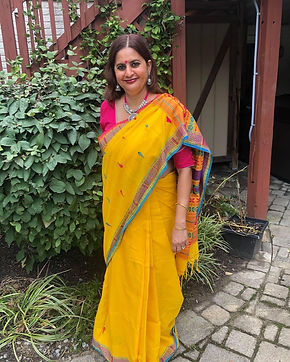 Bengal Looms Diva Minakshi from Maryland in a High Thread Count Khadi Soft Cotton Saree