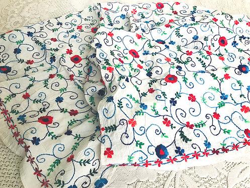 Phulkari Embroidery Cotton Duppatta