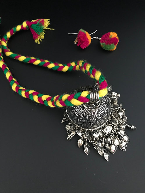 Kuchi Big Jhumka Pendant Set