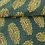 Hand Blocked Cotton Ajrakh Blouse Fabric with Stitch Work in Green and Yellow