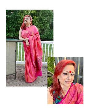 Bengal Looms Diva Ballari from New Jersey in a Pure Tussar Banarasi Saree