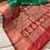 Banarasi Katan Silk Saree in Parrot Green and Red
