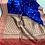 Banarasi Katan Silk Saree in Royal Blue and Red