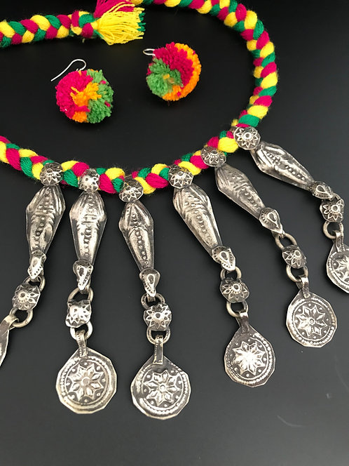 Afghan Tribal Necklace Set