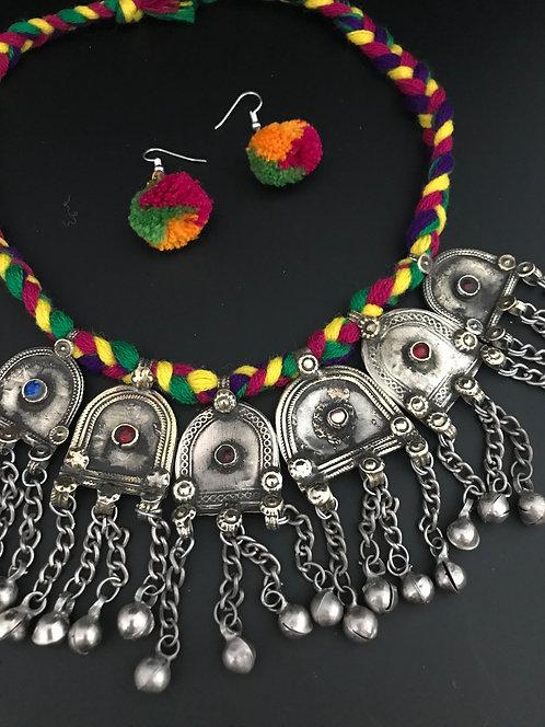 Kuchi Big Coin Necklace Set