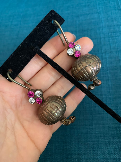 Antique Copper Afghan light Weight Earrings