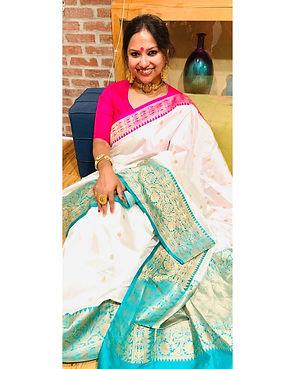 Bengal Looms Diva Madhura from New Jersey in a Pure Katan Silk Banarasi
