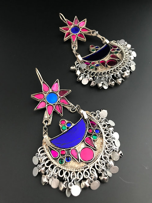 Afghan Chandbali Earrings