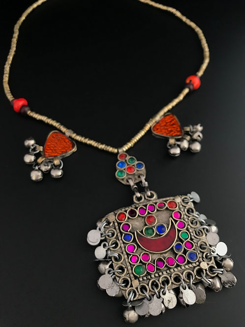 Tribal Afghan Necklace