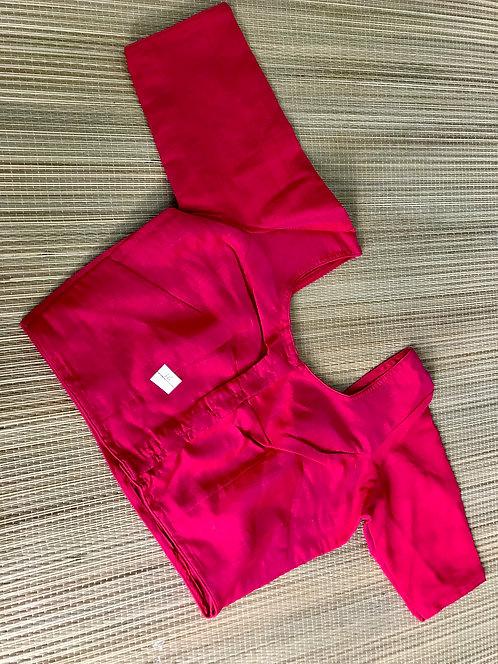 Bright Rani Silk Saree Blouse in Size 40
