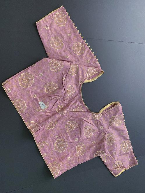 Taffy Pink Designer Saree Blouse in Size 42