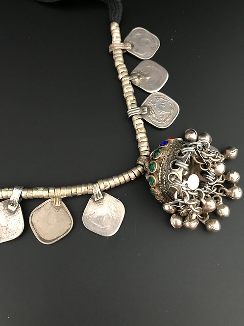 Afghan Jhumka Small Necklace with Stones