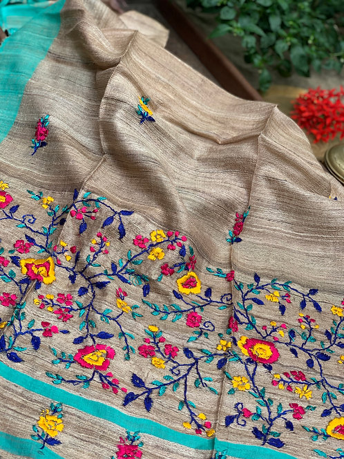 Pure Hand Embroidered Kashmiri Stitch Duppatta