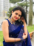 Bengal Looms Diva: Babita from Canada looking absolutely fabulous in a Indigo Blue Khadi Saree from Bengal Looms. Thank you Babita Tewari Kapur for sharing these really amazing pictures. Elegance never goes out of style!!