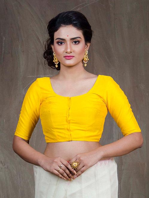 Yellow Designer Saree Blouse in Size 32