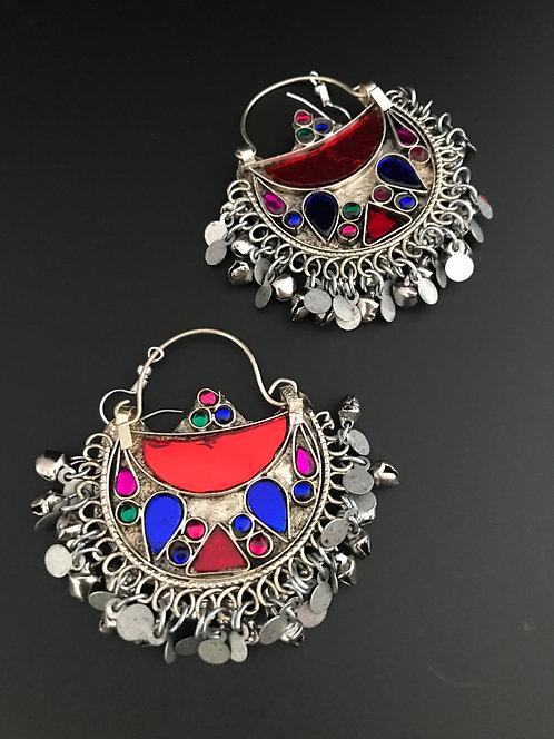 Afghan Chandbali Earrings