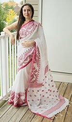 Pure Linen Handloom Sarees