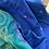 Matka Silk Cotton Saree in Peacock Blue