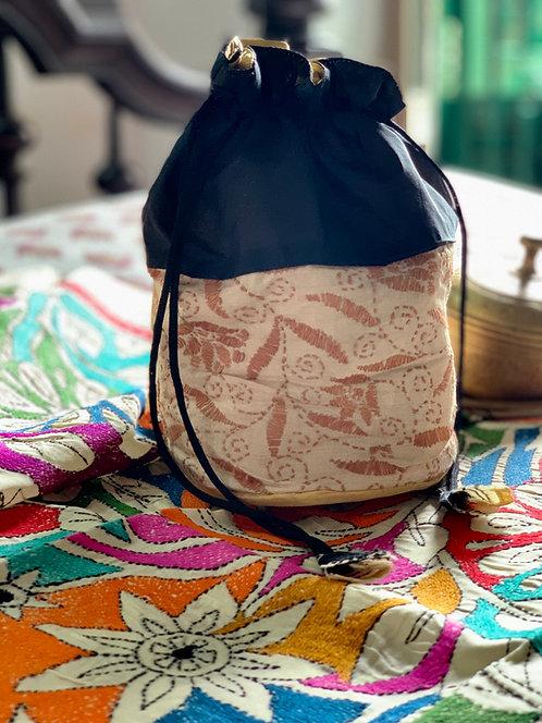 Handmade Kantha Stitch Potli Bag