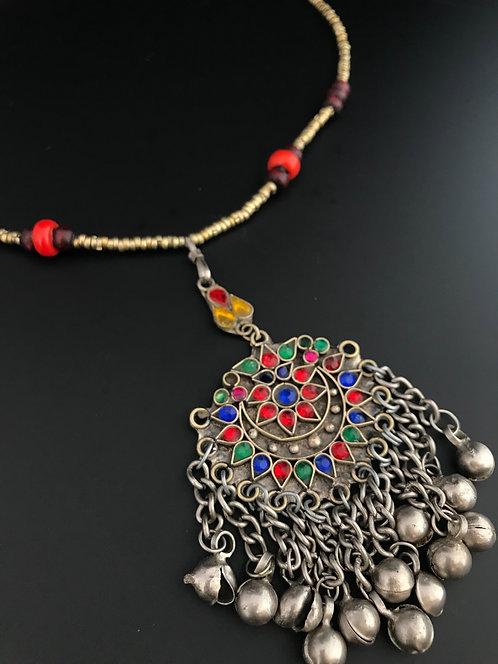 Tribal Kuchi Afghan Pendant Necklace