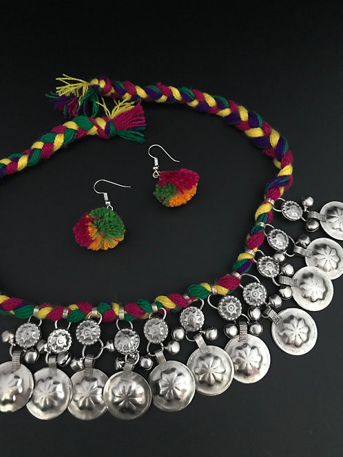 Afghan Coin Necklace Set