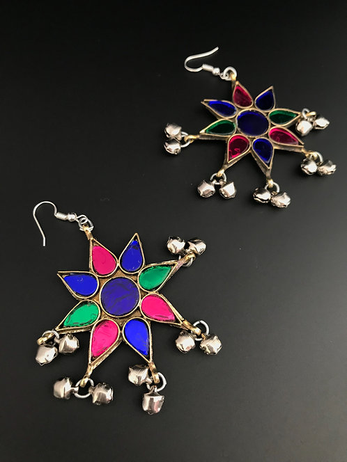 Afghan Glass Stones Earrings