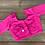 Bubble Gum Pink Designer Saree Blouse in Size 34