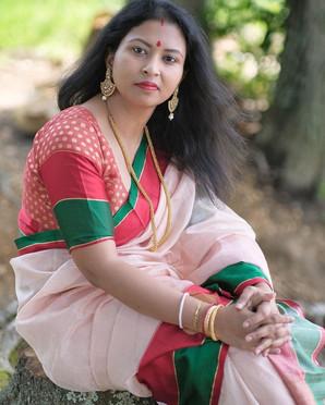 Priyanka in her Banarasi Saris from Bengal Looms.