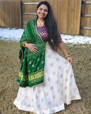 Niyati from Texas absolutely rocking it in her Banarasi Skirt from Bengal Looms