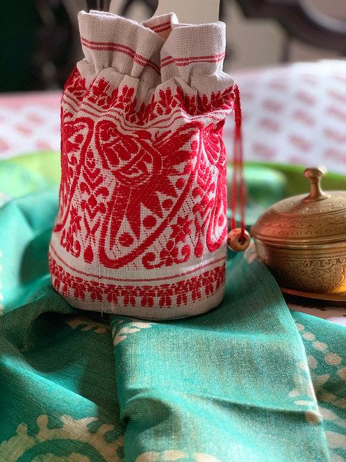 Hand Stitched Assamese Potli Bag