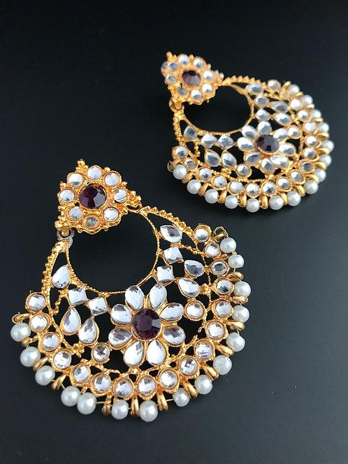 Big Earrings with Stones