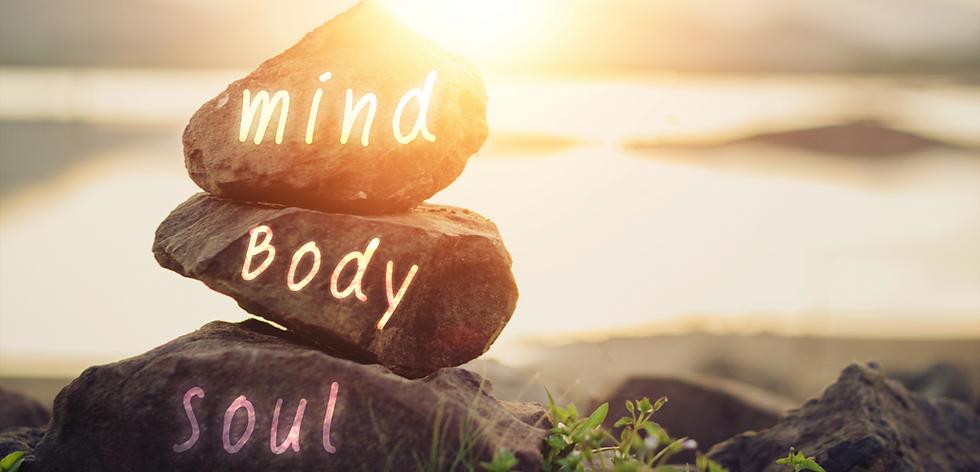 Holistic Health Concept of Zen Stones Mind Body Soul