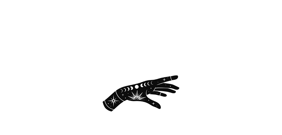 Mystical Magic Hand with Sun, Moon and Stars