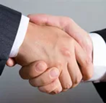 A warm handshake as a man arrives for his relaxing, no obligation, parent session at Simply Psychology in Scottsdale.