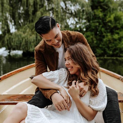 Paarshooting: Mit dem Ruderboot über die Alster