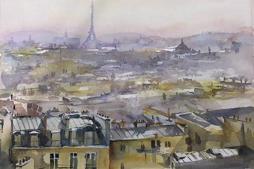 Paris vu de Montmartre (d'après David Curtis)