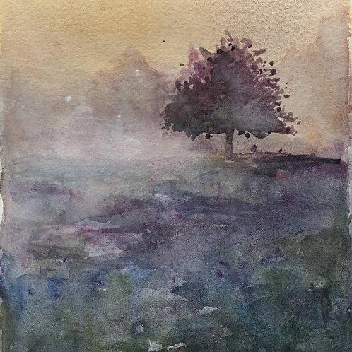Dans la brume - 15x18 cm