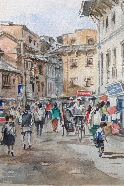 Scène de rue (Katmandu)