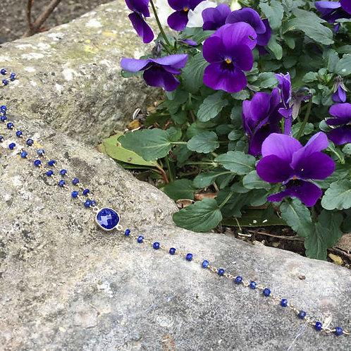 Collier cravate lapis lazuli