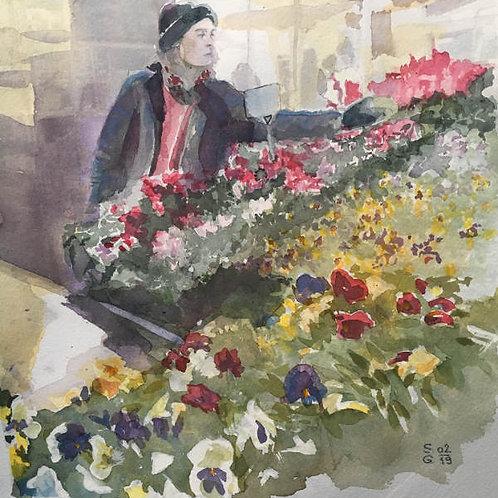 Marché aux fleurs (Millau)