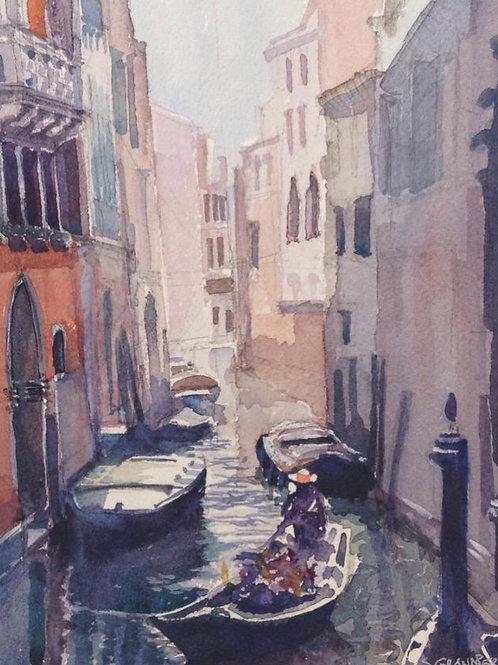 Gondoles à Venise - 20x25 cm