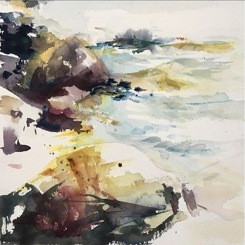 Rochers (d'après Elisabeth Bistrom) 20x25 cm