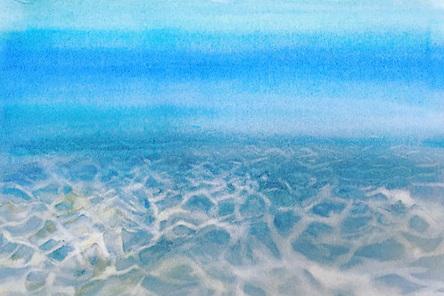 Soleil sur fond marin