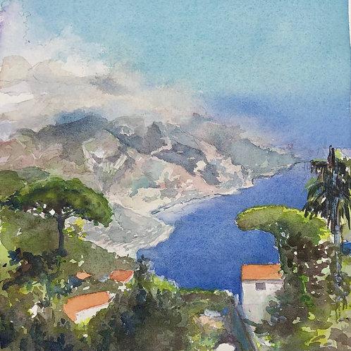La côte Amalfitaine - 20x22 cm