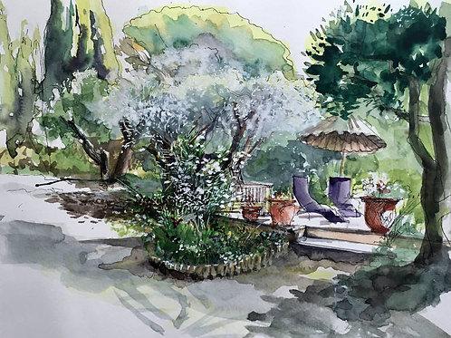 Jardin maison provençale