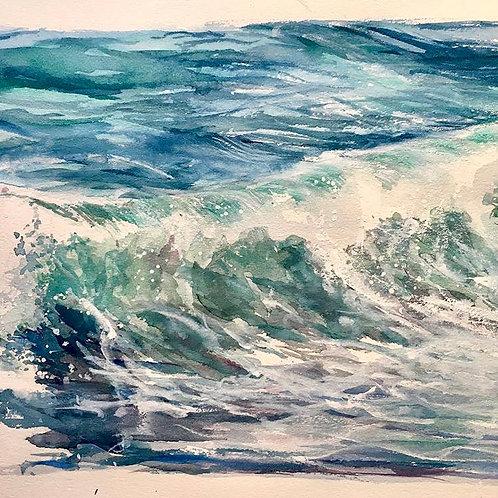 Au creux de la vague - 30x24 cm