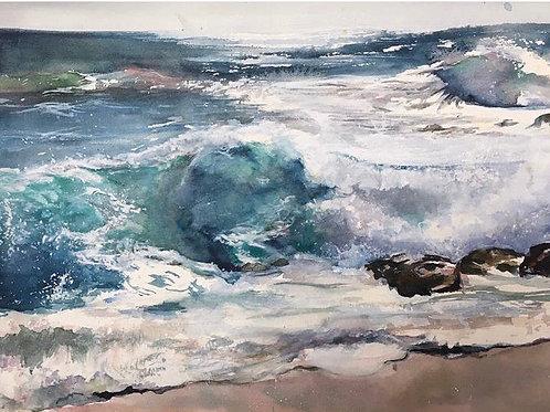 Surfer sur la vague - 38x28 cm