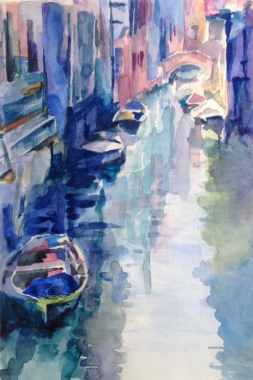 Venise, le canal - 18x22 cm