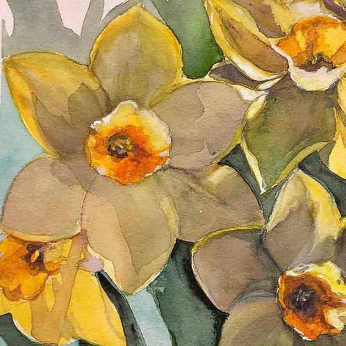 Jonquilles jaunes - 25x21 cm