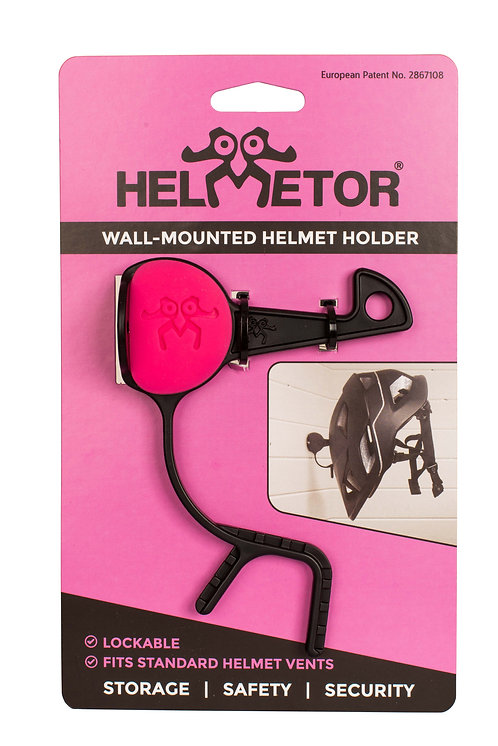 Wall-mounted Helmetor® pink